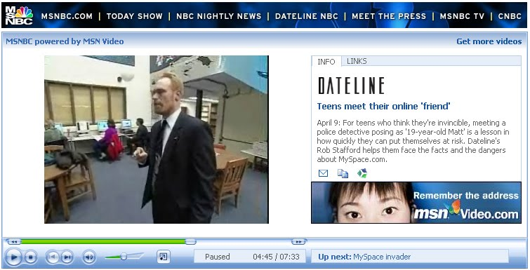 Dr. Polselli presenting Internet Safety training for MPS parents on Dateline NBC